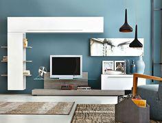 Tv Soggiorno su Pinterest  Pensili Per La Tv, Tv A Muro e Parete Attrezzata