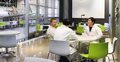Lean Manufacturing: From Parts to Whole Cafe Bar, Colorful Cafe, Green Cafe, Breakout Area, Lean Manufacturing, Rest Area, Cafe Furniture, Cafe Chairs, Green Cleaning