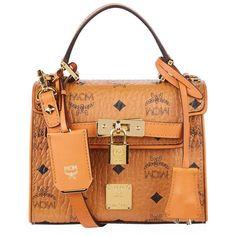 MCM Mini Heritage Satchel ($915) ❤ liked on Polyvore featuring bags, handbags, miniature purse, mcm, flap purse, satchel handbags and mcm purse