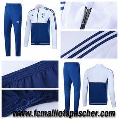 Survetement De Foot Pas Cher Adidas Homme - Veste Juventus Blanc/Bleu 2017/2018 Store