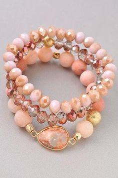 ( by Merveille ) Bead Jewellery, Wire Jewelry, Boho Jewelry, Jewelry Crafts, Beaded Jewelry, Jewelery, Fashion Jewelry, Jewelry Design, Gemstone Bracelets