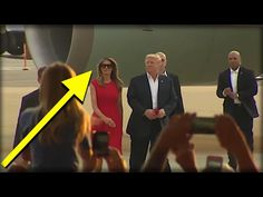 MINUTES AFTER TRUMP WALKED OFF PLANE, MELANIA WALKED ONSTAGE & DID THE UNTHINKABLE! - YouTube