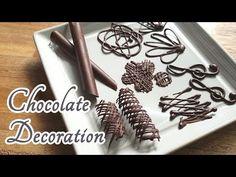 Chocolate decoration ideas for homemade cakes - YouTube Chocolate Bowls, Chocolate Diy, Chocolate Recipes, Chocolate Designs, Cake Decorating Techniques, Cake Decorating Tutorials, Decorating Ideas, Chocolate Decorations, Cake Baking Pans