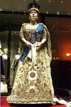 Coronation gown of Queen Mary of the United Kingdom, designed by Reville and Rossiter, 1911