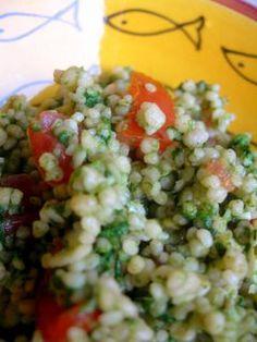 Cous cous al pesto di spinaci