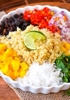 Is there anything that doesn't sound good about this salad?? Mango quinoa coconut