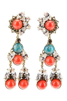 13 Pieces Of Turquoise Jewelry That Add Just The Right Amount Of Pop #refinery29  Anton Heunis Crystal Drop Earrings,