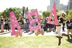 My Sisters! Alpha Xi Delta at DePaul University - Bid Day! #letitbealphaxi