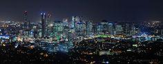 Brisbane City at night, Brisbane  Australia