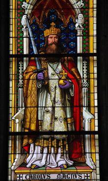 Dit is Karel de Grote. Karel was de koning van de Franken.