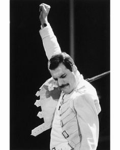 Freddie Mercury <3 ... I have a weird kind of mild obsession with him. Not Queen.  Him.