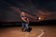 Softball senior photos  Senior photo ideas for girls  Awesome senior pics