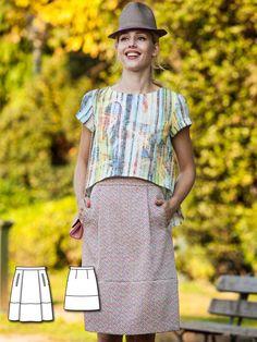 A-Line Skirt 03/2016 #101A burdastyle