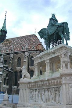 http://www.TravelPod.com - 03 St Stephan and Mathias Church by TravelPod member Lafalot, from Budapest, Hungary ... On castle hill the notable St. Mathias Church and statue of St. Stephen