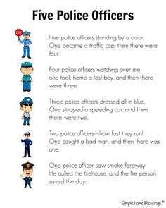 Blessings a simple preschool unit on community helpers Police Men. LOTS of fun ideas for teaching preschoolers and toddlers about Police Men Community Helpers Lesson Plan, Community Helpers Activities, Police Activities, Time Activities, Therapy Activities, Preschool Music, Preschool Themes, Preschool Lessons, Preschool Education