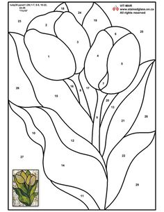 Stained Glass Patterns for FREE 974 Tulips From Holland.jpg