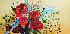 verkauft #Mohn #Flower #Blumen #red Painting, Art, Poppy, Artworks, Florals, Art Background, Painting Art, Paintings, Kunst