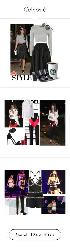 """""""Celebs 6"""" by officialnat ❤ liked on Polyvore featuring Topshop, Carvela Kurt Geiger, Christian Dior, Dior, starbucks, selenagomez, topshop, Arche, Givenchy and Yves Saint Laurent"""