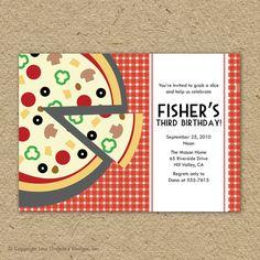 pizza party invitation templates