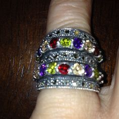 Silver Tone Marcasite Stackable Ring