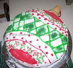 Christmas Ornament Cake... This website is the Pinterest of Christmas cake ideas