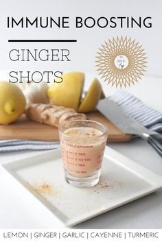 Immune-boosing ginger shots at home! // This House of Joy