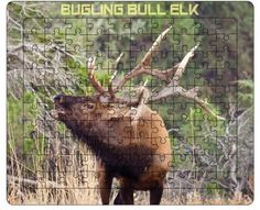 Gifts for children - BULL ELK PUZZLE- 100 pcs. - Wildlife Tray Puzzle. For all ages. Best selling Items. Great gift for adults too. On Sale! by PicturesFromHeaven on Etsy