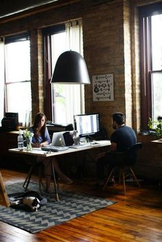 One Desk: If you get to work from home with your partner on a daily basis, try to create a space — no matter how small — that is dedicated solely to work stuff. That way, it's easier to call it quits at the end of the day and still have a life together.