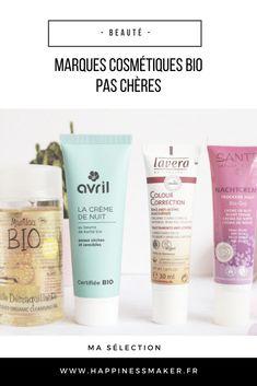 c34df6b56a3 La beauté bio à petits prix   Ma sélection de marques pas chères. marques  cosmétiques ...