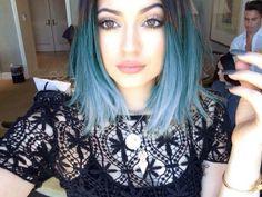 kylie blue hair ombre cabelo colorido blue azul