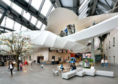 Dutch design agency Tinker Imagineers has created a €45-million exhibition area for Nestlé on the grounds of the food giant's first factory in Switzerland