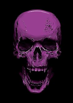 Skull by Callum Forster, via Behance