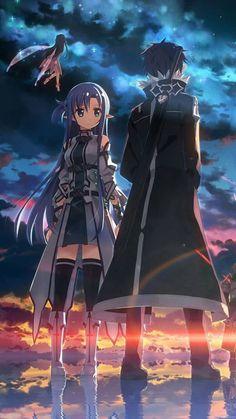 Anime-Sword Art Online: Kirito and Asuna Anime Naruto, Manga Anime, Anime Body, Anime Pokemon, Film Anime, Anime Couples Manga, Cute Anime Couples, Manga Girl, Anime Girls