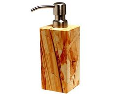 Marble Crafter Myrtus Soap Dispenser BA02-1TS - Marble Crafter Myrtus Soap Dispenser BA02-1TSSKU: BA02-1TSManufacturer: Marble CrafterCategory: Bathroom AccessoriesSub-Category: MyrtusMaterial: Teak StoneWeight: 3 lbsDimensions: 2-1/2 x 2-1/2 x 6-1/4
