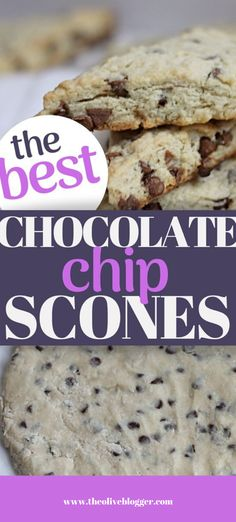 An easy to make chocolate chip scone with no heavy cream! This scone recipe is moist and lightly sweet - making a perfect morning treat. #chocolatechipscones #sconerecipes #scones #chocolaterecipes Best Chocolate Chip Scone Recipe, Scones Chocolate Chips, Chocolate Chip Recipes Easy, Bagel Shop, Chips Recipe, Vegetarian Chocolate, Love Food, Treats, Snacks