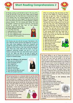 Short Reading Comprehensions 2