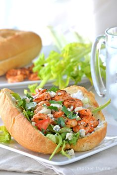 Grilled Buffalo Shrimp Po' Boys from @Jennifer | Mother Thyme