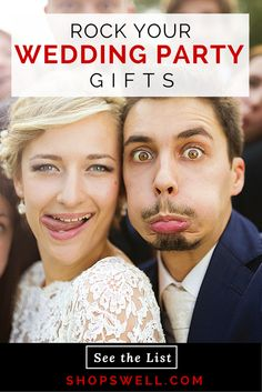Shopping for wedding party gifts is made simple with these great gift ideas from the Shopswell community.