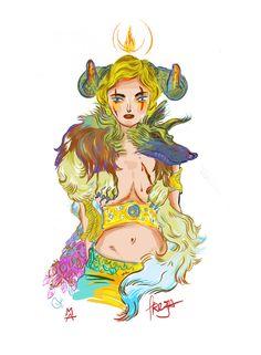 Northern Goddess by MADAMSKA Martyna Adamska www.behance.net/adamska