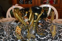 silvester dekoration tischdeko silvester dekoideen