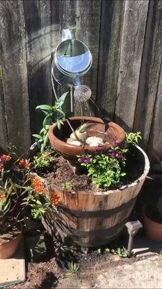Garden Yard Ideas, Garden Crafts, Lawn And Garden, Garden Projects, Garden Art, Cute Garden Ideas, Garden Decorations, Summer Garden, Indoor Garden