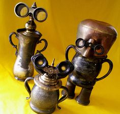 robot assemblage sculptures * THE LOVINGCUP FAMILY   by Reclaim2Fame