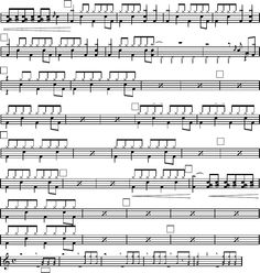 AC-DC Highway to hell drum sheet music