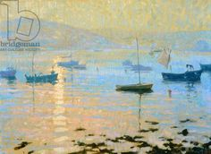 Sea Mist, Evening Sun, Tresco (oil on canvas), Grenville, Hugo (b. 1958) / Private Collection / Bridgeman Images