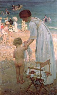 Emanuel Phillips Fox (Australian artist, 1865 -1915) The Bathing Hour