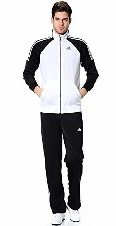 Adidas Mens Riberio Track Suit Jacket & Pants Medium Black/White adidas