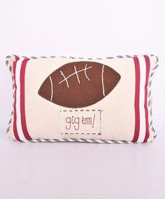 Gig 'em pillow for the home! #football #pillow #gigem #aggies #tamu