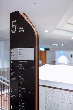 Aotea – Te Pokapū Signage and Wayfinding - Maynard Design Pylon Signage, Directional Signage, Wayfinding Signs, Hotel Signage, Web Banner Design, Web Design, Environmental Graphic Design, Environmental Graphics, Directory Design
