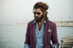 Men's casual style.  By the Sea: Maximiliano Patane for L.B.M. 1911 Spring/Summer 2014