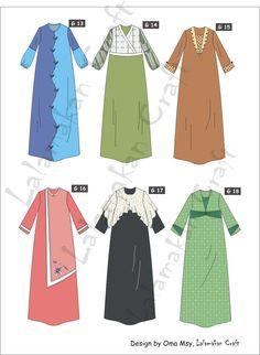 Dress Brokat Anak Muslim 43 Ideas For 2019 Dress Design Patterns, Dress Design Sketches, Fashion Design Sketches, Abaya Designs, Hijab Fashion, Fashion Dresses, Moslem Fashion, Hijab Stile, Dress Brokat